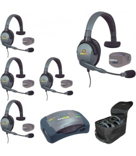 Eartec UPMX4GS5 - 1 HUB, 5 UltraPAK & 5 Max 4G Single Headsets