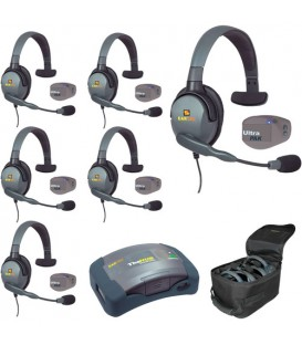 Eartec UPMX4GS6 - 1 HUB, 6 UltraPAK & 6 Max 4G Single Headsets