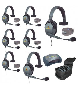 Eartec UPMX4GS7 - 1 HUB, 7 UltraPAK & 7 Max 4G Single Headsets