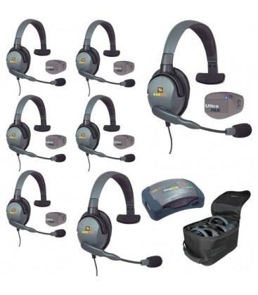 Eartec UPMX4GS7 - 1 HUB, 7 UltraPAK & 7 Max 4G Single Headsets