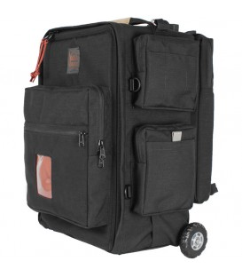 Portabrace BK-2NROR - Backpack Camera Case with Wheels & Rigid Frame, Black