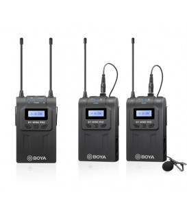 Boya BY-WM8 Pro-K2 - UHF Dual-Channel Wireless Microphone 1+2