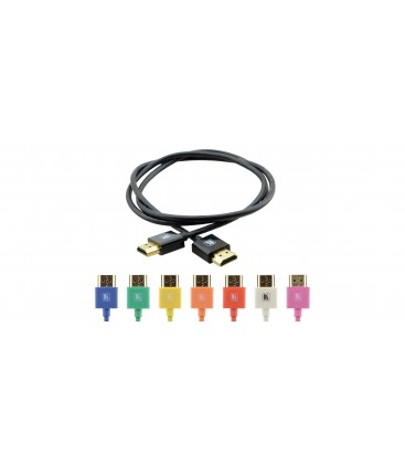 Kramer C-HM/HM/PICO/BK-3 - Slim High-Speed HDMI Cable with Ethernet - Black - 0.9m