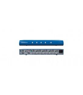 Kramer SC42DHU-3 - HighSecLabs Secure 4-Port 4K30 UHD DVI-I to HDMI KVM Combiner with fUSB
