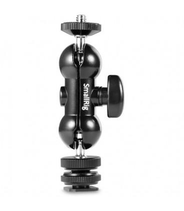 "SmallRig 1135 - Cool-Ballhead-V1 Multi-function Double BallHead w/ shoe mount & 1/4"" screw"