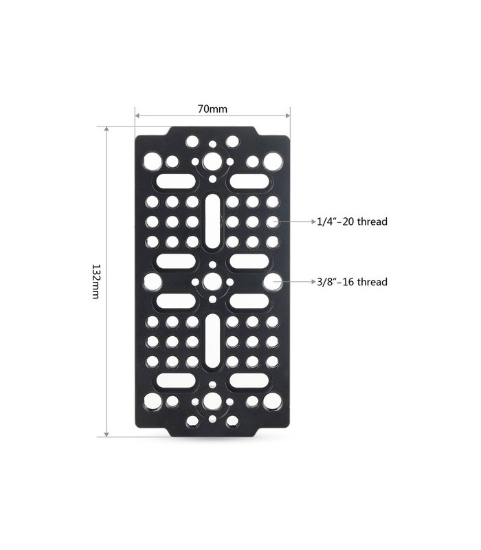 "SmallRig camera Cheese Mounting Plate with 1//4/""-20 and 3//8/""-16 threaded holes"