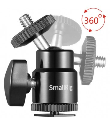 "SmallRig 2059 - 1/4"" Camera Hot shoe Mount with Additional 1/4"" Screw (2pcs Pack)"