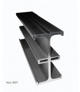 Desisti 8201.101 - D Rail Extruded Aluminum Linear Rail Section Of 1 Meter