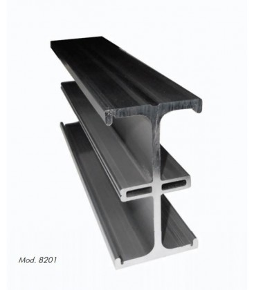 Desisti 8201.105 - D Rail Extruded Aluminum Linear Rail Section Of 5 Meter