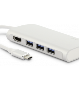 LMP USB-C Vid Hub-50 - USB-C Video Hub 5 Port, silver, 50 Pack