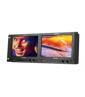 "Konvision KRM-902A - 4RU 9"" x2screens Full HD Rackmount Monitor"