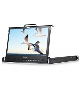 Konvision KFM-1760D - Pull-out 1RU Rackmount LCD monitor, 10bit LCD covers P3 color gamut