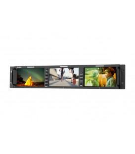 "Konvision KRM-503A - 2RU 5.5""x3screens Full HD Rackmount Monitor"