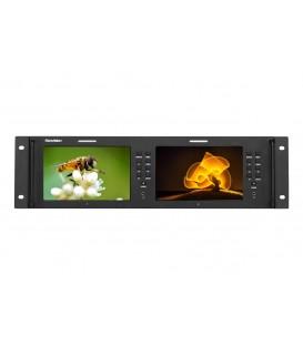"Konvision KRM-702A - 3RU 7"" x2screens Full HD Rackmount Monitor"