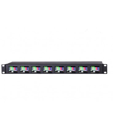 """Konvision KRM-208A - 1RU 2""""x8Screens HD Rackmount Monitor (the world first one)"""