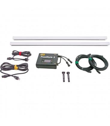 Kinoflo SYS-FTS4002 - FreeStyle 4ft LED DMX System (2-Tube), Univ