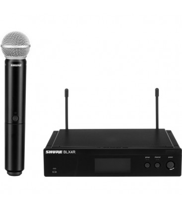 Shure BLX24RE/SM58-H8E - BLX24R Vocal System with SM58 518-542 MHz