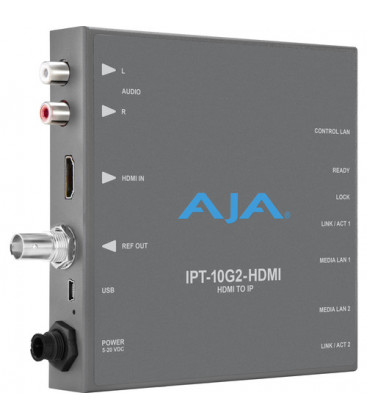 AJA IPT-10G2-HDMI - HDMI to SMPTE ST 2110 Video and Audio IP Encoder