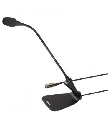 Shure CVG12DS-B/C - Gooseneck mic blk w/base/switch/led, 12inch