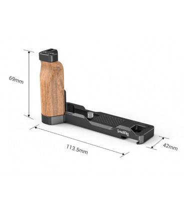 SmallRig 2936 - L-Shape Wooden Grip with Cold Shoe for Sony ZV1 Camera